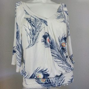 American Rag Size small Peacock feather print